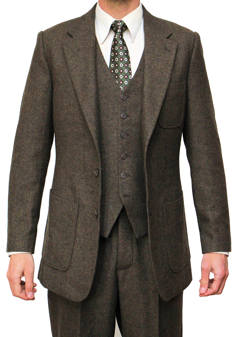 1930s Men's Suits History Marshall Suit 1930s Tweed $735.00 AT vintagedancer.com