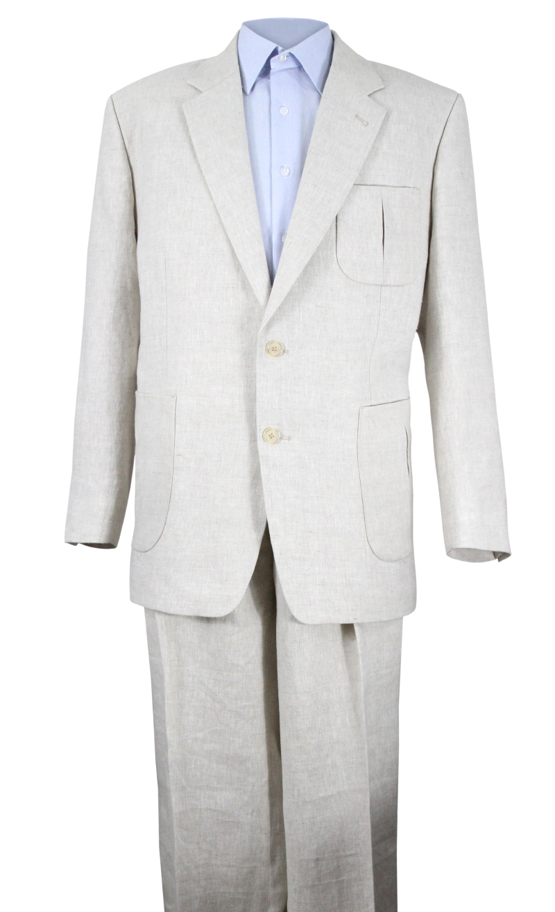 Men's Vintage Style Suits, Classic Suits  Nassau Linen Suit AUD 585.00 AT vintagedancer.com