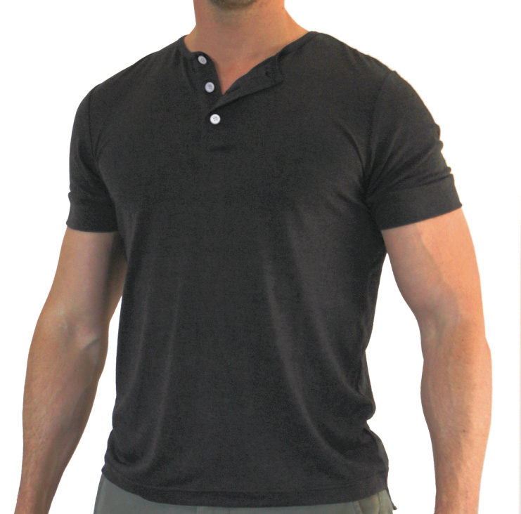 Drive Henley (Charcoal)