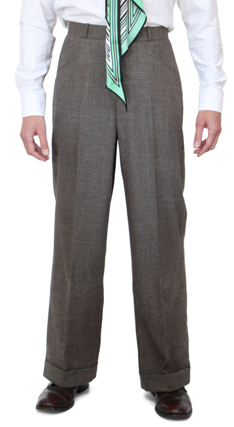 1920s Men's Pants, Trousers, Plus Fours, Knickers Retro Tweed Trousers AUD 240.00 AT vintagedancer.com