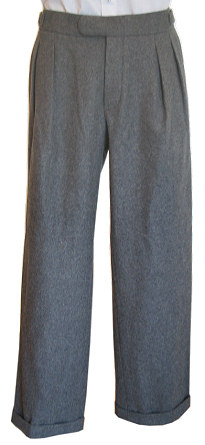 1920s Men's Pants, Trousers, Plus Fours, Knickers  Flannel Trousers AUD 255.00 AT vintagedancer.com