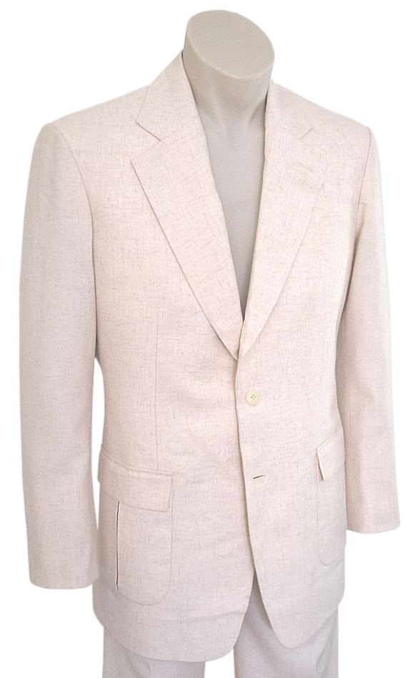 Men's Vintage Style Suits, Classic Suits  Cairo Linen Suit AUD 585.00 AT vintagedancer.com