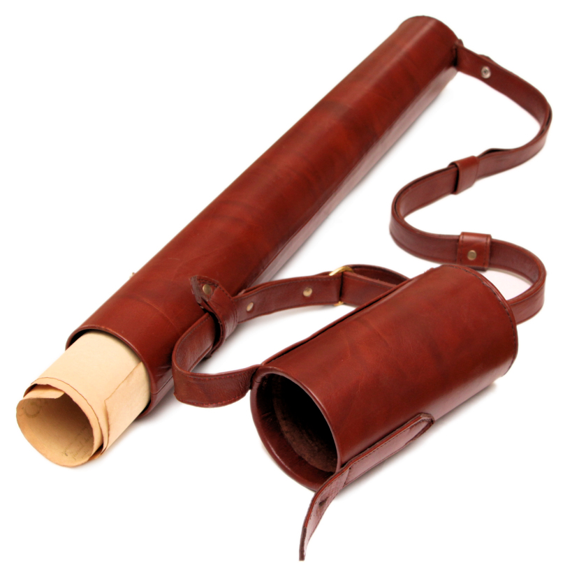 Leather Document Tube