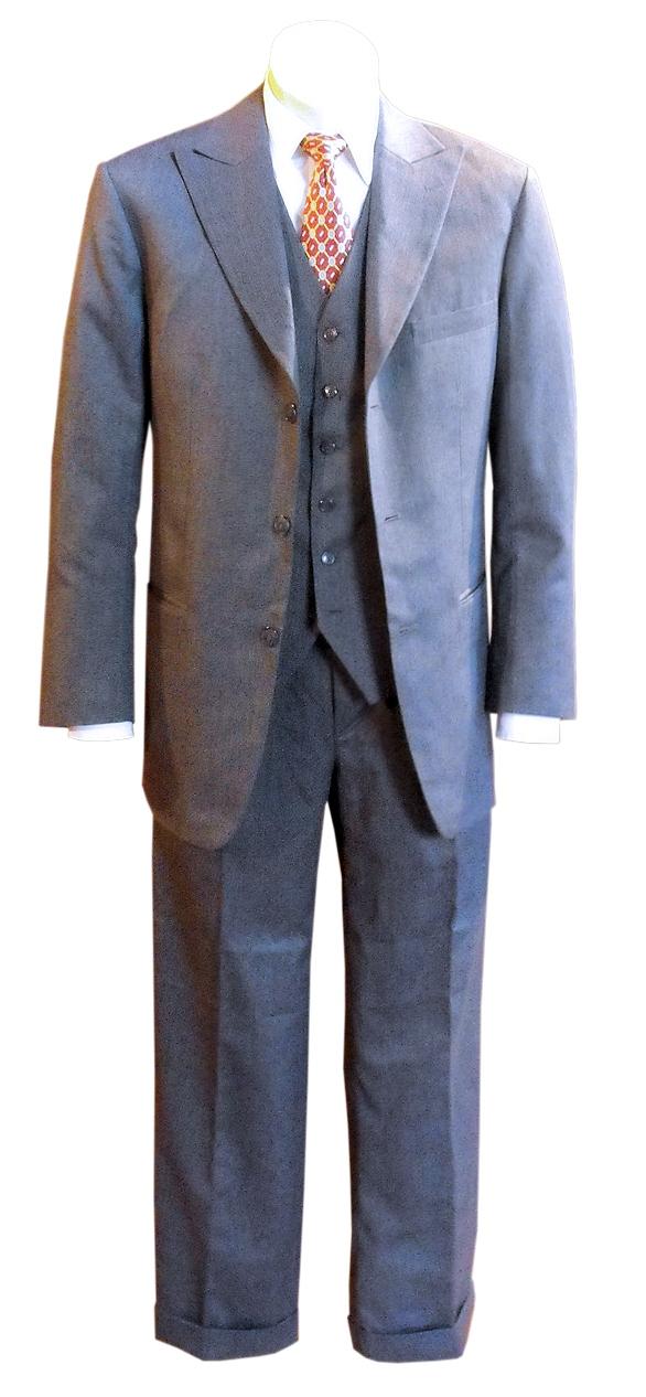 1940s Zoot Suit History & Buy Modern Zoot Suits Cagney Suit AUD 735.00 AT vintagedancer.com