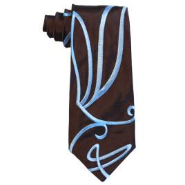 Embroidered Swirly Tie
